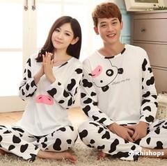 ชุดนอนคู่รักลายวัว