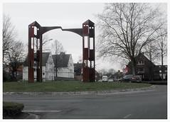 Kunst im Kreisel (37) (Steinschlag) Tags: roundabout nrw nordrheinwestfalen münsterland lüdinghausen northrhinewestphalia kreisel kreisverkehr mühlentor kunstimkreisel