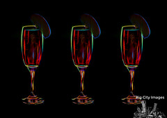 Cocktail Glasses - Digital Art (Big_City_Images) Tags: red party summer food orange white holiday black cold color green ice water glass yellow closeup fruit bar club night cherry restaurant lemon co