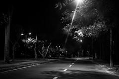 (julianasanc) Tags: street brazil blackandwhite bw lake minasgerais brasil night dark noche avenida pb mg silence noite belohorizonte rua lagoa laguna avenue pretoebranco silencio madrugada escuro bh pampulha lagoadapampulha