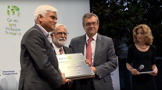 Kishor Patil wins ITF Promising Innovation in Transport Award 2016