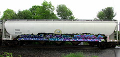 jerms - lae - merk NYC '16 (timetomakethepasta) Tags: jerms lae merk bks trk gtk freight train graffiti hopper nyc tcmx north dakota mill