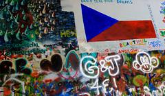 John LENNON WALL / Prague Czeich Republic (funnyfrenchie) Tags: colors wall canon eos republic prague praha lennon mur lightroom republique t3i tcheque 600d czeich