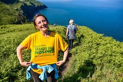 Round Wales Walk 34 - Fellow Charity Walkers! (Nikki & Tom) Tags: charity uk sea smile wales tshirt cliffs walkers pembrokecoastpath walescoastpath skandavalehospice