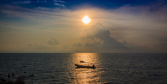 boat and sunset (duytan15) Tags: sunset seascape beach boat vietnam