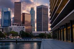 Downtown Los Angeles at Sunset. (drpeterrath) Tags: canon eos5dsr 5dsr dtla eos losangeles la lacp outdoor reflections sunset urban cityscape urbanlandscape dusk