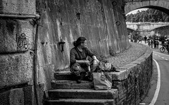 Loneliness is the ultimate poverty (pegs_k) Tags: city italy rome river loneliness tiber eternal