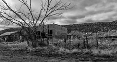 Cuervo, New Mexico (medsw56_Barb McCourt) Tags: cuervo newmexico abandonedbuildings ghosttown isolated blackandwhitephotography blackandwhite bnw bw sonyrx100m4