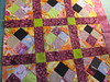 Four patch on point with lattice by Janie 2014 (crazyvictoriana) Tags: quilt blocks improvise lattice onpoint fourpatch contemporary liberated