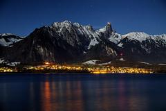 Swiss Nights (hapulcu) Tags: bern oberhofen schweiz suisse suiza svizzera swiss switzerland thun castle nightphotography winter