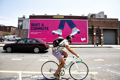 Lyft (Always Hand Paint) Tags: nyc pink brooklyn advertising mural outdoor pop online williamsburg service ooh handpaint colossal complete b200 streetlevel lyft colossalmedia onlineservice muraladvertising skyhighmurals alwayshandpaint kristamlindahl lyftcomplete