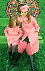 Pink in the Rain (jerkingchicken) Tags: rain rainwear raingear sixtiesfashion