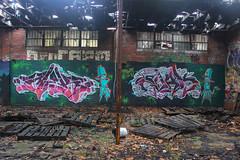 Mek, Evak (NJphotograffer) Tags: new urban building abandoned graffiti nj explore jersey styles vs graff vicious mek fua evak