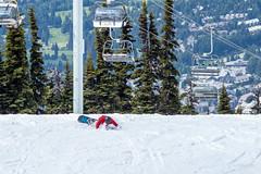 Splat! (WarpFactorEnterprises) Tags: mountain snow canon whistler snowboarder t4i spring2016