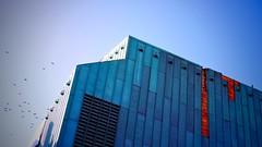 IT (pi3rreo) Tags: city sky urban abstract nikon bleu ciel coolpix théâtre saintes urbain abstrait