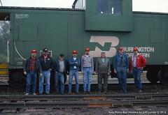 8-Man Crew on the Kelly Lake Local on Sept. 21, 1989 (Twin Ports Rail History) Tags: twin ports rail history by jeff lemke 1989 time machine kelly lake local minnesota range research staff