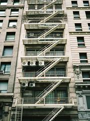 Fire Escape (Carl Hall Photography) Tags: nyc newyorkcity newyork film america kodak fireescape ektar kodakektar100 ektar100 ukfilmlab ukfl