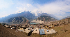 Manang village panorama (whitworth images) Tags: nepal houses panorama brown mountain lake snow nature water stone trekking trek buildings landscape outdoors asia village rooftops mud buddhist scenic nobody nopeople panoramic glacier snowcapped roofs prayerflags annapurna himalayas highaltitude glacial acap terraced rooves manang earthern gangapurna annapurnaiii gangapurnalake indiansubcontinent annapurnacircuittrek annapurnaconservationarea annapurnaround