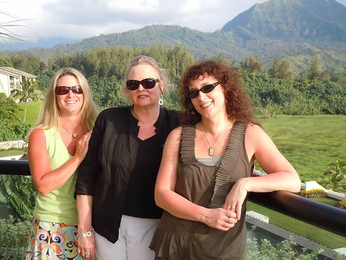 In Hawaii with good friends, Jill Barnett and Megan Chance