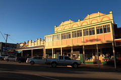 Cowabbie Street Coolamon (Darren Schiller) Tags: building architecture rural afternoon country australia shops newsouthwales verandah streetscape smalltown coolamon
