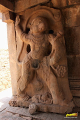 2.7 meters high Lord Hanuman (a.k.a Anjaneya) monolithic sculpture in Ranga (Madhava) Temple, Hampi (Trayaan) Tags: travel india monument temple worldheritagesite historical karnataka hampi vijayanagar incredibleindia vijayanagara vijayanagarastyle indianhistoricalarchitecture karnataempire vijayanagaratemplearchitecture vijayanagaratemplearchitectur
