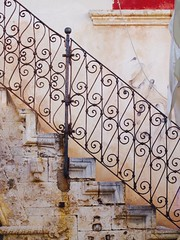 Chania Old Town (Snipsnapper) Tags: chania greece crete oldtown ornate stairs steps history xavia ironworks g12 deterioration stonework
