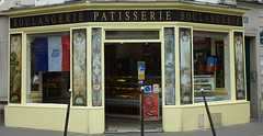 Boulangerie Patisserie facade, 14th arr (Monceau) Tags: boulangerie patisserie faade painted panels oldfashioned storefront