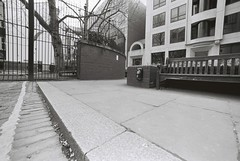 Ripper's Corner (B&W) (goodfella2459) Tags: white black london history film corner 35mm square lens jack nikon kodak trix crime catherine 400 24mm af nikkor mitre whitechapel milf f4 ripper rippers f28d eddowes