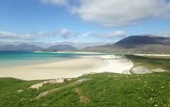 Harris, Outer Hebrides (gus guthrie1) Tags: blue summer beach beauty islands coast scotland sand scenery turquoise azure scottish harris outerhebrides unspoilt hebridesiphone
