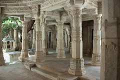 Marble columns and steps.jpg (melissaenderle) Tags: religion asia rajasthan jain church synagogue mosque