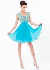Stunning Blue Scoop Neck Beaded Cap Sleeves Winter Formal Dress (miyadresses2016) Tags: bluedress formaldress stunningdress tunicdress homecomingdrsss graduationdress
