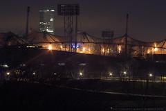 Olympiastadion (wimmerralf) Tags: mnchen olympia stadion olympiastadion olympiade 1972 hochhaus olympiadach architektur nachtaufnahme lichter blendensterne summicronr 50mm
