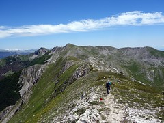 Descending from Monte Ginepro, with Monte del Passeggio up ahead (markhorrell) Tags: walking lazio apennines montiernici
