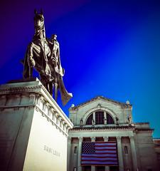 St. Louis Art Museum (Michael Shoop) Tags: usa statue canon stlouis missouri saintlouis forestpark kinglouisix stlouisartmuseum arthill michaelshoop