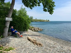 Sign of the Times (Joanne Dale) Tags: trees ontario canada beach water pebbles stcatharines lakeontario iphone portweller joannedale httpswwwflickrcomphotos136422198n07 avisitfromgreg digthosescampers