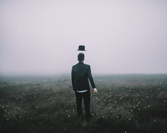 The unknown (Adam Bird Photography) Tags: mist hat fog walking mood smoke surreal atmosphere suit explore faded jacket renmagritte adambird adambirdphotography