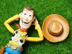 Chill Out! Weekend is coming!! (XINYAW13) Tags: green grass hat relax toy happy cool toystory weekend woody happiness olympus calm friday lying tgif chillout toyphotography 1240mm em5mkii