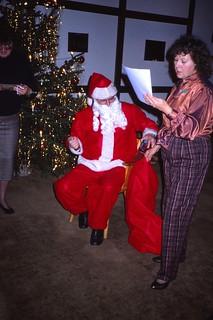 West Germany    -    HerbornSeelbach    -    Damen Kaffee at the OHG (Offene Handelsgesellshaft)   -   Aartal Kaserne   -    Frau Maryann with Father Christmas   -   8 December 1989