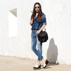 y jeans de @meltinpotcompany y unas sandalias cuas preciosas de @aglshoes . Si os gusta, tenis todos los detalles de las prendas en el blog, llegis directos pinchando en el link de mi Bio.  Besazos y que disfrutis el fin de semana!! Double (WOWS_) Tags: beauty fashion moda belleza streetstyle