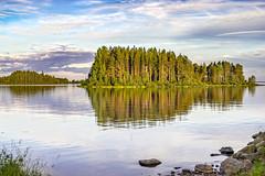 Oulujarvi_Vaala (Auvo Vetelinen) Tags: summer sky lake water finland landscape evening calm summerscape oulujrvi vaala sonya7r auvovetelinen midsummer2016 sigma50mmf14artdghsmfornikon