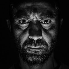 RABAH - The dark side of the mood project -08 (ericbeaume) Tags: portrait people bw monochrome dark square 50mm blackwhite nikon mood moody nb noirblanc 18g d5100 ericbeaume