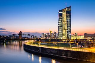 dusk in Frankfurt
