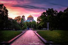 Sofia Bulgaria Sunset (sfabisuk) Tags: city sunset church cathedral sofia sony bulgaria alexander nevsky