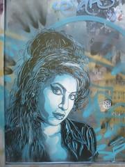 C215 : Amy Winehouse (juin 2016) (Archi & Philou) Tags: blue portrait streetart lady stencil femme bleu hommage paris13 winehouse pochoir c215