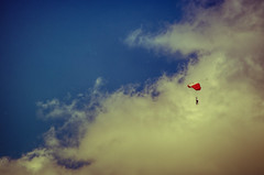Head in the Clouds (Linger a Moment More) (flashfix) Tags: sky ontario canada nature sport clouds skydiving skyscape person nikon ottawa bluesky minimal jumper activity cloudscape parachute parachutist 2016 parachuter d7000 55mm300mm 2016inphotos june302016 jumpingfromahelicopter