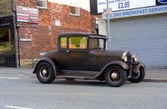Ford Model  A - 1929 (Lawrence Peregrine-Trousers) Tags: ford coupe rat rod matt matte black ffffffffff hot old vintage car spot spotted spots modela 1928 1929 1930 uk england 35 rover buick v8