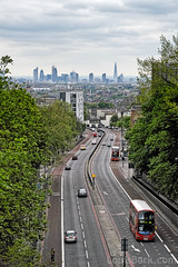 Gateway to the City (louisberk.com) Tags: city trees bus green london skyline iso200 spring hill transport sigma a1 archway highgate shard f8 gherkin hornsey merrill dp2 gupr