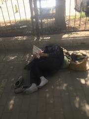 """Taking a load off."" (brendan gibson) Tags: china old sleeping man apple funny asia nap homeless bum inner mongolia prc 4s anywhere iphone innermongolia hohhot appleiphone4s"