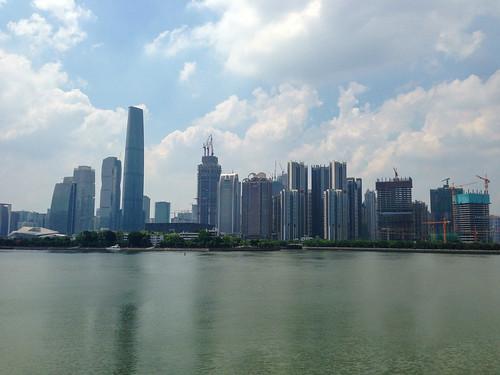 Guangzhou skyline across the river