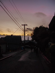 Berkeley Hills Sunset (Urthling) Tags: california street sunset bay berkeley university walk east hills campanile uc